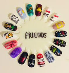 Nails friends Tv show Simple Acrylic Nails, Best Acrylic Nails, Acrylic Nail Designs, Simple Nails, Nail Art Designs, Cute Nails, Pretty Nails, My Nails, Fingernails Painted
