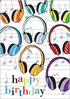 Card Ranges » 3155 » Headphones - Abacus Cards - Greetings Cards, Gift Wrap & Stationery