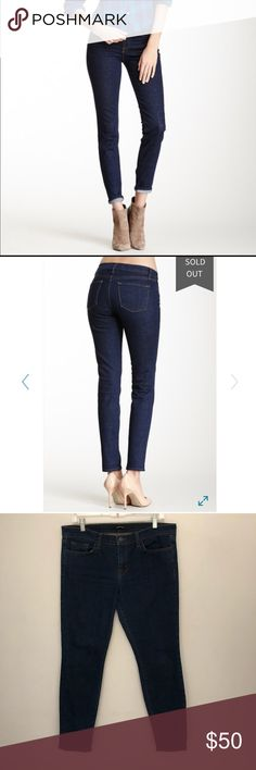 """NEW J Brand Mid-Rise Skinny Jeans J Brand Mid-Rise Skinny """"slim leg"""" Jeans in """"Daphne"""", a great dark wash. New condition. Approx. 8"""" rise, 29"""" inseam, size 31. J Brand Jeans Skinny"""