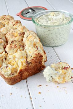 Crisp bacon and shredded cheddar cheese up the yum on the sweet, gooey goodness of monkey bread.