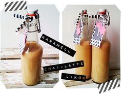 ♥ popeyetalk  homemade Caramel-Chai-Latte-Liquor
