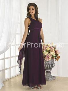 Attractive Sheath One-Shoulder Floor-length Bridesmaid Dresses