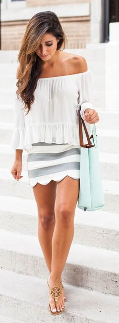 Scalloped Mini Skirt Styling by The Darling Detail