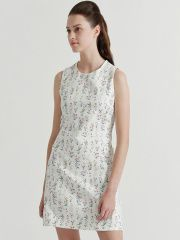 COVER STORY White Floral Print Sheath Dress