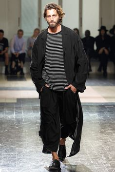 Yohji Yamamoto - Extra manly this time round cos of the bruises and cuts. I LOVE it. I truly enjoy the late 80s/early 90s manga high school gangster sillhouette he has going on.