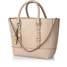Beige leather structured tote bag by River Island River Island Fashion, Work Bags, Crossbody Bag, Tote Bag, Shopper Tote, Womens Purses, Leather Satchel, Michael Kors Jet Set, Fashion Bags