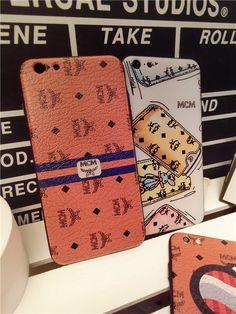 Coque cuir MCM Coréen avec dessin très à la mode pour iphone 6s 6s plus sur www.lelinker.fr