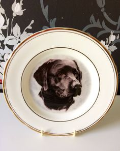 A personal favourite from my Etsy shop https://www.etsy.com/uk/listing/524858765/decorative-plates-labrador-labrador