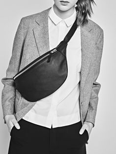 CHRISTINA FISCHER simple leather bumbag - made from 100% recycled leather.
