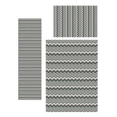 Infuse your decor with the modern look of this contemporary 3-piece Ashley rug set. Presenting with a trendy chevron pattern in silver and grey tones, this stylish rug set is easy to clean with a durable construction for lasting wear in your home.