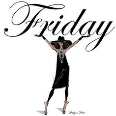 HAPPY FRIDAY EVERYONE!! Xx Megan Hess illustration.