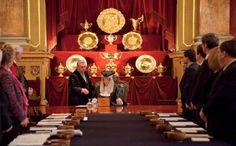 The Jury assemble in the Trial Chamber in Goldsmith's Hall, London as the 2013 Trial begins...