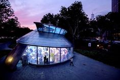 New York's New Carousel Puts You in a Whirling School of Mechanized Fish - The New York Times