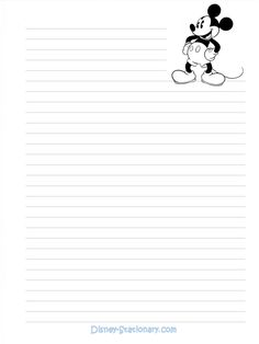 Mickey-Mouse-BW-Stationary (115K) Print for school