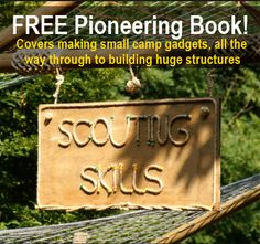Pioneering is the art of making useful items and structures with rope/natural cordage and wood/branches etc. Pioneering is very popular with the Scout movement as you came make small simple camp gadgets like those in the image above, and you can make huge...