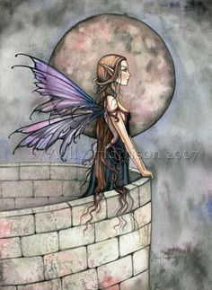 Gothic Romantic Mistical Fairy Art Print by by MollyHarrisonArt, $18.00