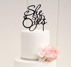 She Said Yes Wedding Cake Topper Wedding Decoration - Wedding Look