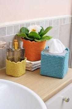 Cestas de ganchillo para el baño: Fotos de diseños (7/20)   Ellahoy