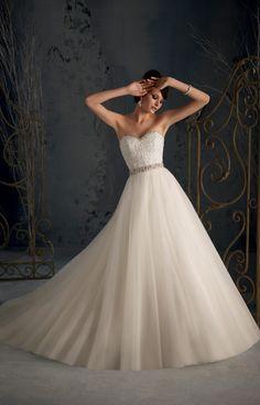 Shoulder Gorgeous Beading Straps Removable Wedding Dress#GSB5619