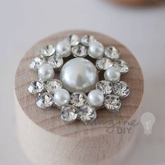 Abigail Crystal and pearl embellishment. Decoration with crystal and pearl details. Pretty DIY wedding stationery and invitation supplies. Perfect for card making and paper crafts