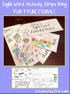 Students build their own Sight Word Rings throughout the year  This makes practicing sight words FUN and FUNCTIONAL! $