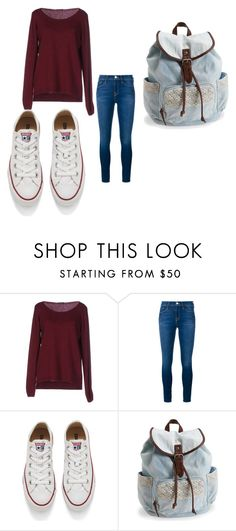 """3"" by eskucinska on Polyvore featuring Fred Perry, Frame Denim, Converse, Aéropostale, women's clothing, women, female, woman, misses and juniors"