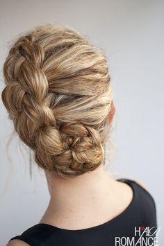Hair Romance - top curly hairstyle tutorials - dutch braid updo