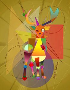 Deer cubism by Jorge D. Cubism, Deer, Outdoor Decor, Home Decor, Decoration Home, Room Decor, Home Interior Design, Home Decoration, Reindeer