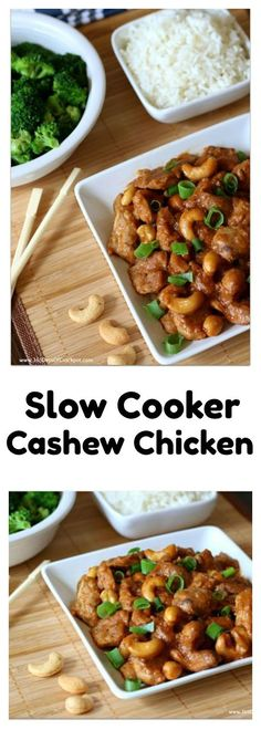 Slow Cooker Cashew Chicken–This crockpot cashew chicken is just as good as your favorite Chinese restaurant. It's super easy and flavorful and it's all made in the comfort of your own kitchen