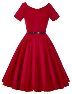 Cheap dress winner, Buy Quality dress up games coloring directly from China dresses for cheap prices Suppliers: Vintage Dress Audrey Hepburn Rockabilly Style Vestidos Feminino Retro Tunic Robe Pin Up Red Party Dress With Sleeves Belt Vintage Tea Dress, Vintage Dresses 50s, Retro Dress, Party Dresses With Sleeves, Pin Up Dresses, Casual Dresses, Sleeve Dresses, Dresses Dresses, Summer Dresses 2017
