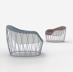 PLOUMANAC'H - designed by julien Vidame #ploumanach #cotedegranitrose #clubarmchair #fauteuilclub #moelleux #soft #douillet #designer #productdesign #designproduit #designfurniture #interiordesign #newproject #nouveauprojet #julienvidame #vidamestudio #art #rose #bleu pink #blue #metal #tissu #steel #fabric #leger #light