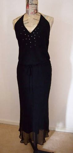 Lisa Ho Vintage Silk Evening Dress by Peaceloveheart on Etsy, $125.00