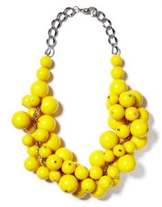 Yellow bead cluster necklace.  I'm in love with this necklace.  Totally DIY-able.