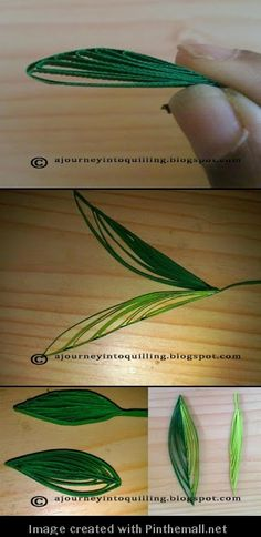 (Part 3 of 3) veined leaf http://ajourneyintoquilling.blogspot.com/2013/09/new-quilling-technique-tutorial-folded.html