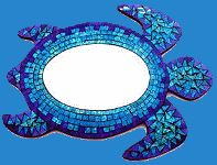 Sea Turtle - Mosaic Mirror Wall Hanging