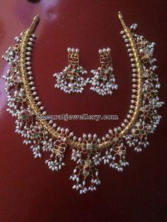 Simple Guttapusalu Necklace in Silver Metal - Jewellery Designs Metal Jewelry, Jewelery, Silver Jewelry, Silver Rings, Gold Jewellery Design, Simple Earrings, Handmade Silver, Wedding Jewelry, Pearls