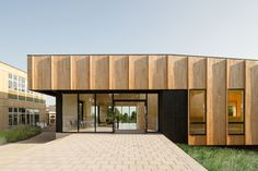 Love the articulation of the timber cladding on this building - The Lee Centre by Fielden Fowles Architects