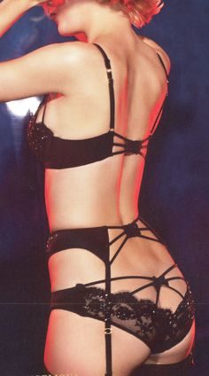 amazing back detail.   - the back of that garter belt, wowie.