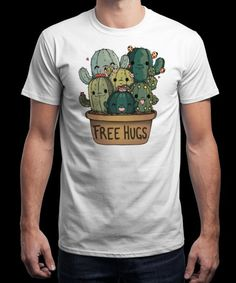 """Free Hugs"" is today's £9/€11/$12 tee for 24 hours only on www.Qwertee.com Pin this for a chance to win a FREE TEE this weekend. Follow us on pinterest.com/qwertee for a second! Thanks:)"