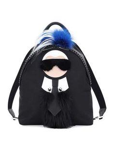 Fendi+Karlito+Fur+Mohawk+Backpack+Black+|+Bag