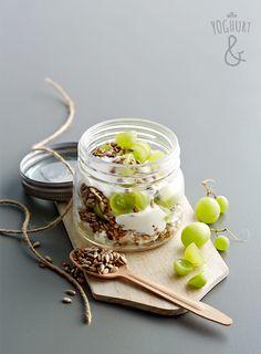 Cottage Cheese & Druer & Solsikkefrø - Se flere spennende yoghurtvarianter på yoghurt.no - Et inspirasjonsmagasin for yoghurt.