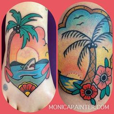 www.monicapainter.com Palm Tree Tattoos