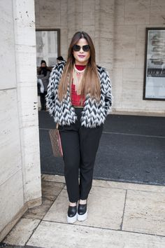 @guapandrea looking fab at #nyfw #streetstyle check us out at www.sinnstyle.com