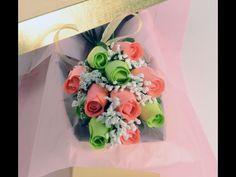 Lime & Peach Wax Roses