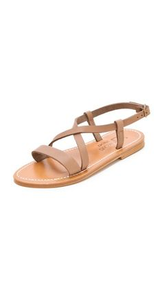 K. Jacques Flavia Crisscross Sandals- dream casual sandal. And not just because of its name.