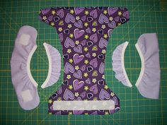 Simple Diaper-Sewing Tutorials: FOE Cover with Surrounding Gussets Baby Sewing Projects, Sewing For Kids, Sewing Tutorials, Prefold Cloth Diapers, Diy Diapers, Cloth Diaper Covers, Cloth Diaper Pattern, Sewing Baby Clothes, Mama Cloth