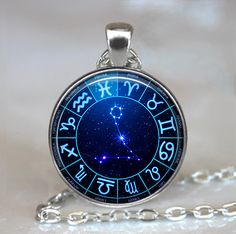 Star Wheel Pisces necklace, constellation necklace,  Pisces jewelry Pisces pendant Zodiac jewelry Zodiac key chain key fob
