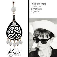Audrey Hepburn end earring Kyria style