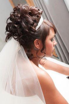 African American. Black Bride. Wedding Hair. Natural Hairstyles. Bridal curls
