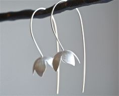 Sterling Bell Flower Earrings by Kathi Roussel